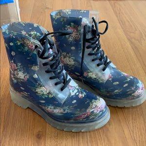 Cute floral rain boots